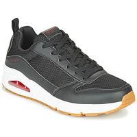 Cipők Férfi Rövid szárú edzőcipők Skechers UNO FASTIME Fekete