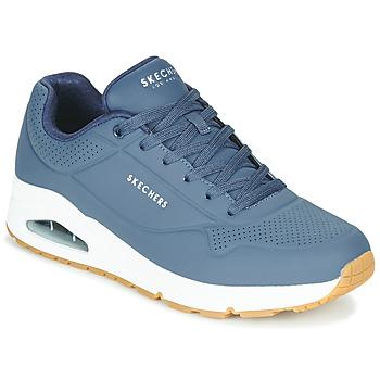 Cipők Férfi Rövid szárú edzőcipők Skechers UNO STAND ON AIR Tengerész