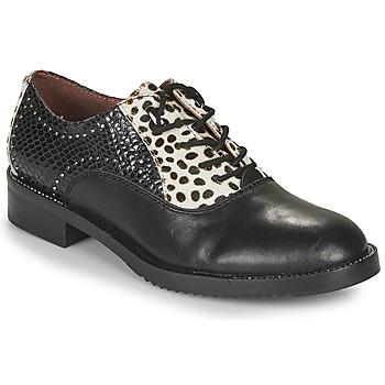 Cipők Női Oxford cipők Café Noir JEREL Fekete  / Fehér