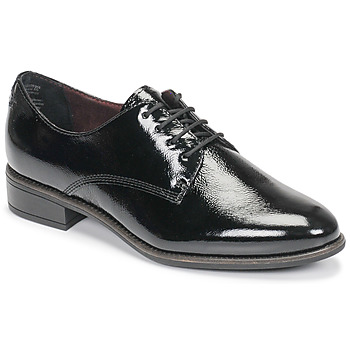 Cipők Női Oxford cipők Tamaris JEANY Fekete