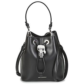 Táskák Női Válltáskák Karl Lagerfeld K/IKONIK BUCKET BAG Fekete
