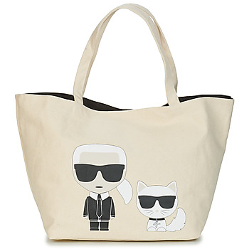 Táskák Női Bevásárló szatyrok / Bevásárló táskák Karl Lagerfeld K/IKONIK KARL & CHOUPETTE TOTE Fekete