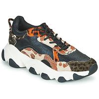 Cipők Női Rövid szárú edzőcipők Gioseppo ALEKSIN Fekete  / Narancssárga
