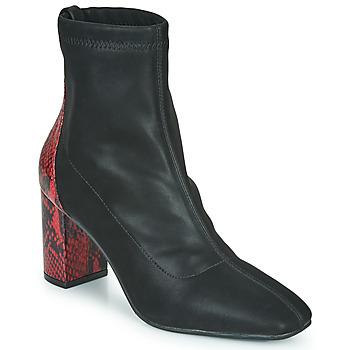 Cipők Női Bokacsizmák Gioseppo EGELN Fekete  / Piros