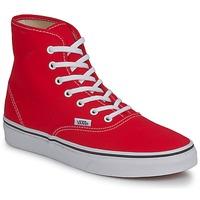 Cipők Női Magas szárú edzőcipők Vans AUTHENTIC HI Piros