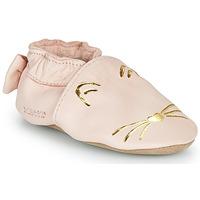 Cipők Lány Mamuszok Robeez GOLDY CAT Rózsaszín / Arany