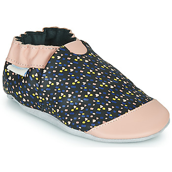 Cipők Lány Mamuszok Robeez RAINY LOVE Fekete  / Rózsaszín