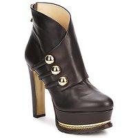 Cipők Női Bokacsizmák Moschino MA2104 Sötét / Barna