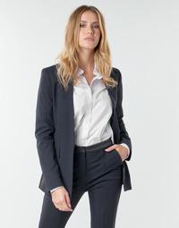 Ruhák Női Kabátok / Blézerek Karl Lagerfeld PUNTO JACKET W/ SATIN LAPEL Tengerész / Fekete