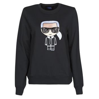 Ruhák Női Pulóverek Karl Lagerfeld IKONIK KARL SWEATSHIRT Fekete