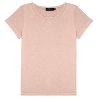 Ruhák Lány Rövid ujjú pólók Deeluxe GLITTER Rózsaszín
