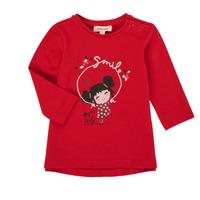 Ruhák Lány Hosszú ujjú pólók Catimini CR10043-38 Piros