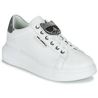Cipők Női Rövid szárú edzőcipők Karl Lagerfeld KAPRI IKONIC TWIN LO LACE Fehér / Bőr / Ezüst