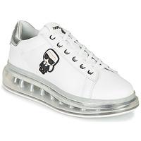 Cipők Női Rövid szárú edzőcipők Karl Lagerfeld KAPRI KUSHION Karl Ikonic Lo Lace Fehér / Ezüst