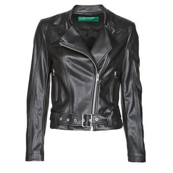 Ruhák Női Bőrkabátok / műbőr kabátok Benetton 2ALB53673 Fekete