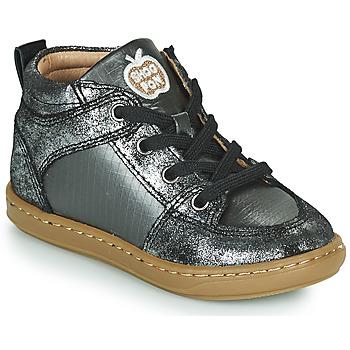 Cipők Lány Magas szárú edzőcipők Shoo Pom BOUBA GANG Ezüst