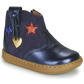 Cipők Lány Magas szárú edzőcipők Shoo Pom BOUBA WEST Kék