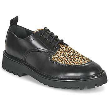 Cipők Női Oxford cipők Kenzo K MOUNT Fekete  / Leopárd