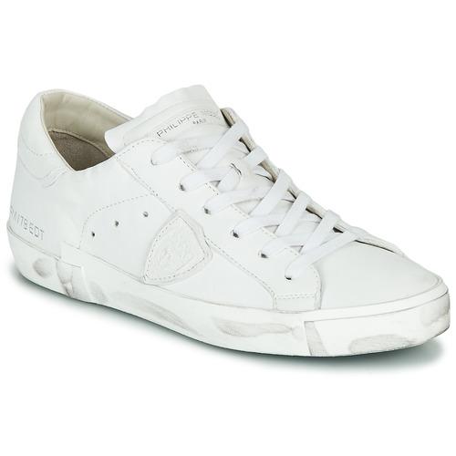 Cipők Női Rövid szárú edzőcipők Philippe Model PARIS X BASIC Fehér