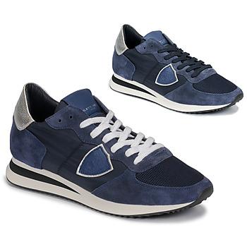 Cipők Női Rövid szárú edzőcipők Philippe Model TROPEZ Tengerész