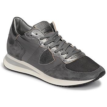 Cipők Női Rövid szárú edzőcipők Philippe Model TROPEZ Szürke