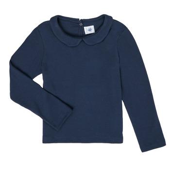 Ruhák Lány Hosszú ujjú pólók Petit Bateau LOVING Tengerész