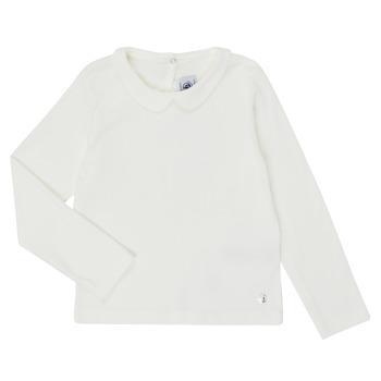 Ruhák Lány Hosszú ujjú pólók Petit Bateau LOVING Fehér