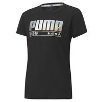 Ruhák Lány Rövid ujjú pólók Puma ALPHA TEE 165 Fekete
