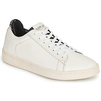 Cipők Férfi Rövid szárú edzőcipők Replay BLOG ERIK Fehér