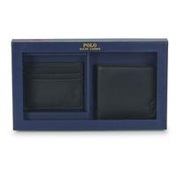 Táskák Férfi Pénztárcák Polo Ralph Lauren Billfold & CardCase Gift Set Fekete