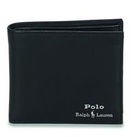 Táskák Férfi Pénztárcák Polo Ralph Lauren GLD FL BFC-WALLET-SMOOTH LEATHER Fekete