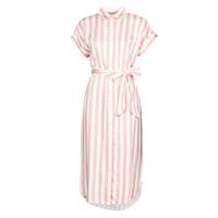Ruhák Női Hosszú ruhák Lauren Ralph Lauren CICERO Fehér / Rózsaszín