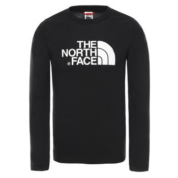 Ruhák Fiú Hosszú ujjú pólók The North Face EASY TEE LS Fekete