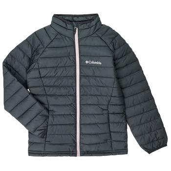 Ruhák Lány Steppelt kabátok Columbia POWDER LITE JACKET Fekete