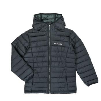 Ruhák Fiú Steppelt kabátok Columbia POWDER LITE HOODED JACKET Fekete