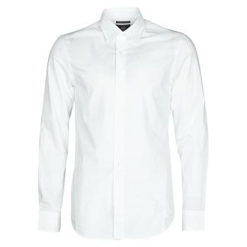 Ruhák Férfi Hosszú ujjú ingek G-Star Raw DRESSED SUPER SLIM SHIRT LS Fehér