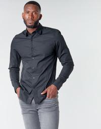 Ruhák Férfi Hosszú ujjú ingek G-Star Raw DRESSED SUPER SLIM SHIRT LS Fekete
