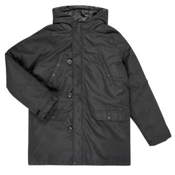 Ruhák Fiú Steppelt kabátok Guess L0BL08-WDEH0-JBLK Fekete