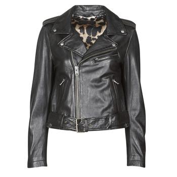 Ruhák Női Bőrkabátok / műbőr kabátok Oakwood RADIO Fekete