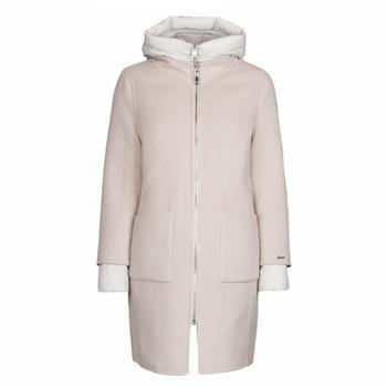 Ruhák Női Kabátok Oakwood LILIANA BI Elefántcsont / Szürke