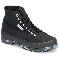 Cipők Női Magas szárú edzőcipők Superga 2341 ALPINA MARBLEGUM Fekete