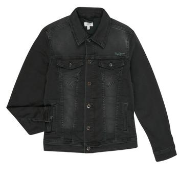 Ruhák Fiú Farmerkabátok Pepe jeans LEGENDARY Fekete