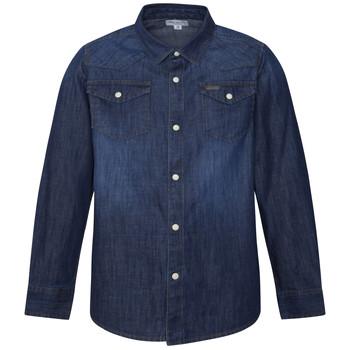 Ruhák Fiú Hosszú ujjú ingek Pepe jeans JHON Kék