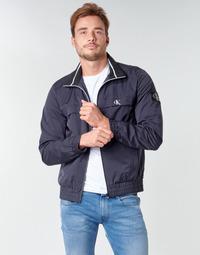 Ruhák Férfi Dzsekik Calvin Klein Jeans ZIP UP HARRINGTON Tengerész