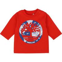Ruhák Fiú Hosszú ujjú pólók Timberland T95889 Piros