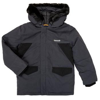 Ruhák Fiú Parka kabátok Timberland T26525 Szürke