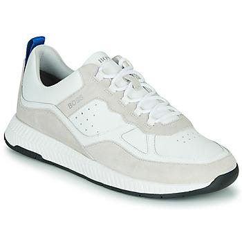 Cipők Férfi Rövid szárú edzőcipők BOSS TITANIM RUNN LTMX Fehér