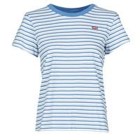 Ruhák Női Rövid ujjú pólók Levi's PERFECT TEE Silphium / Colony / Kék