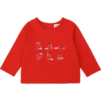 Ruhák Lány Hosszú ujjú pólók Carrément Beau Y95252 Piros