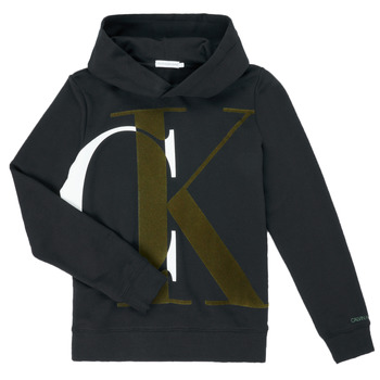 Ruhák Fiú Pulóverek Calvin Klein Jeans IB0IB00628-BEH Fekete
